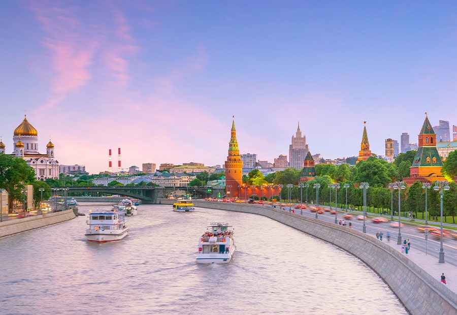Прогулка на теплоходе по Москве-реке «From Capital to Capital»