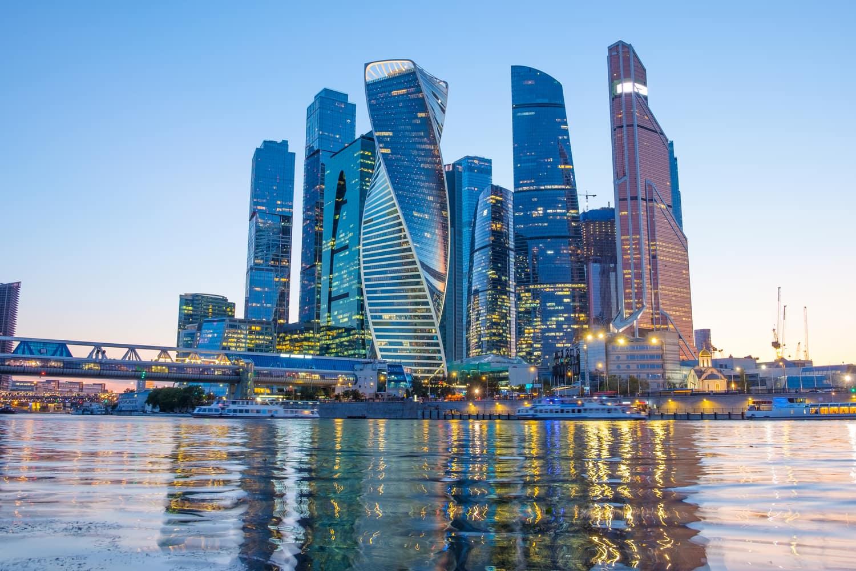 Теплоход от Москва-Сити 2021